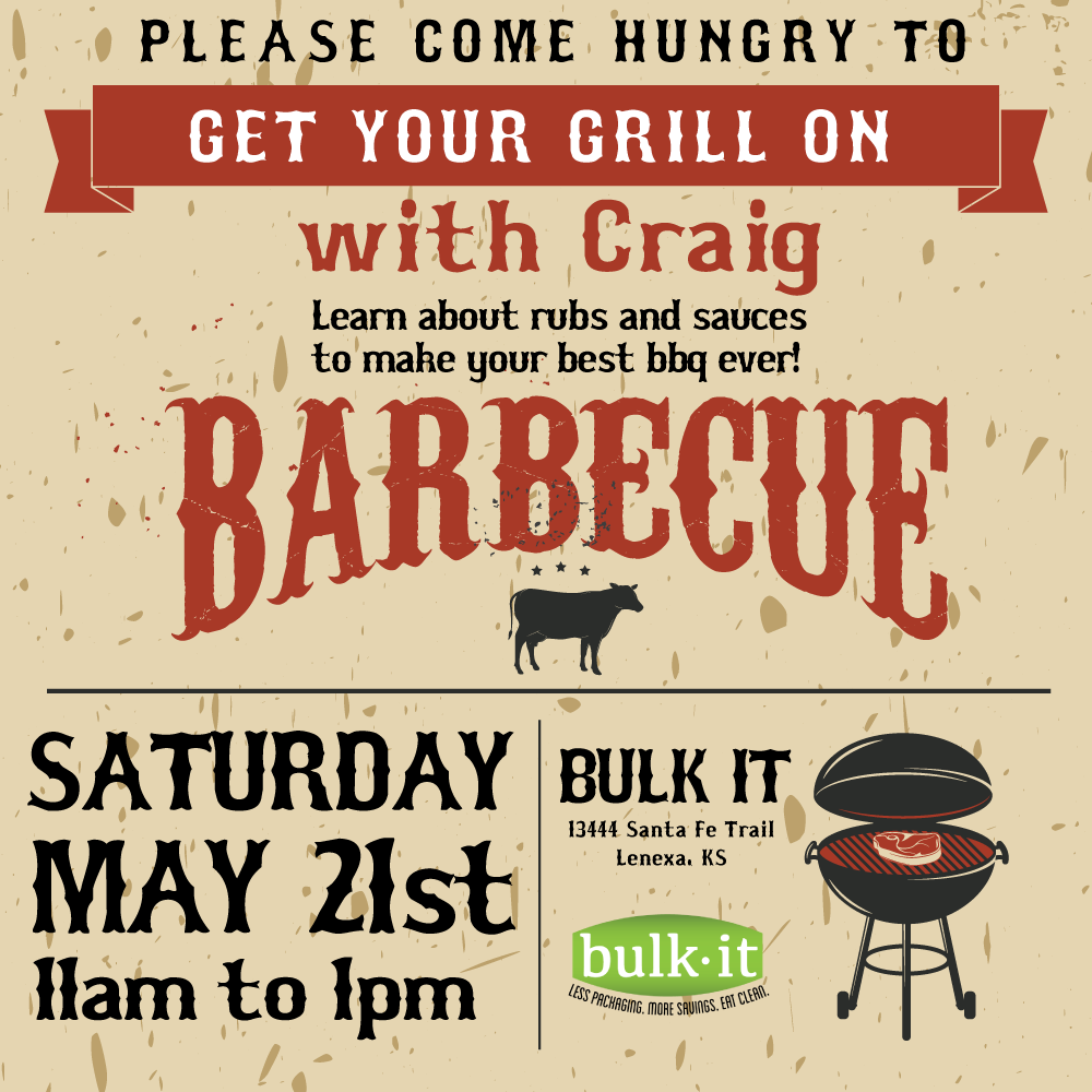 Get Your Grill On ~ Get your grill on with craig bulk it foods