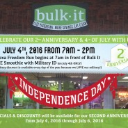 Bulk It's 2nd Anniversary & 4th of July 2016