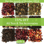 For October – 15% OFF All Tea & Tea Accessories
