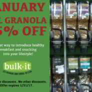 All Granola 15% OFF For the Month of January
