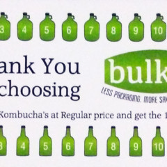 Kombucha Club! Get 11 fills and your 12th is FREE!