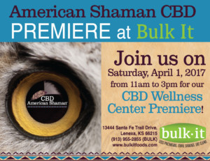 American Shaman CBD Premiere at Bulk It - Come Visit Our New CBD Wellness Center! @ BULK IT | Lenexa | Kansas | United States