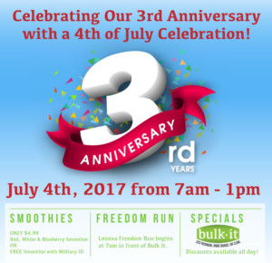 Bulk It's 3rd Anniversary & 4th of July Celebration! @ Bulk It | Lenexa | Kansas | United States