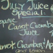 July Juice Special – Organic Carrot Cucumber Juice