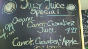 July Juice Special - Organic Carrot Cucumber Juice @ Bulk It | Lenexa | Kansas | United States