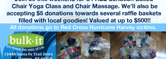 Basket Raffle, Chair Yoga & Massage to Benefit Hurricane Harvey Victims