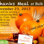 2nd Annual FREE Thanks Meal 2017