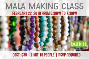 Mala Making Class @ Bulk It | Lenexa | Kansas | United States