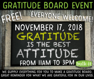 Gratitude Board Event @ Bulk It | Lenexa | Kansas | United States