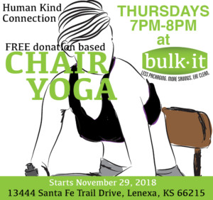 Human Kind Connection - Chair Yoga @ Bulk It | Lenexa | Kansas | United States