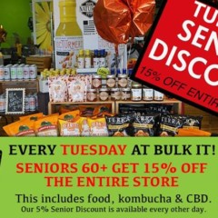 Seniors Get 15% OFF Every Tuesday at Bulk It